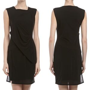 Helmut Lang Square Neck Dress with Seam Detail